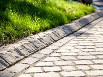 Cobble paving in Luton